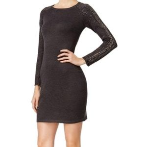 NEW Calvin Klein Studded Ribbed Trim Sweaterdress